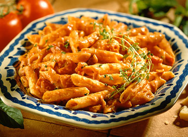 ... penne in vodka cream sauce recipe dishmaps chicken and penne in vodka
