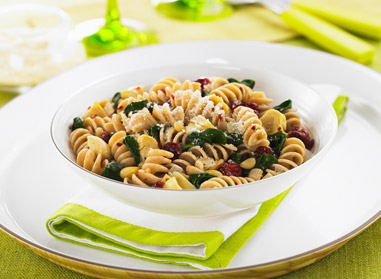 Rotini with Artichoke Hearts & Dried Cranberries