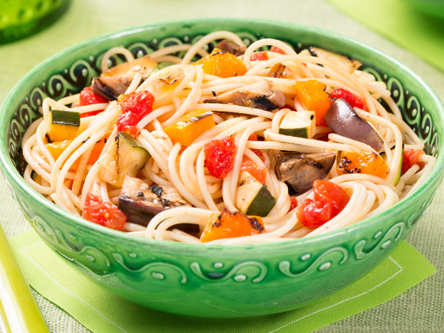 Spaghetti With Grilled Ratatouille Recipes — Dishmaps